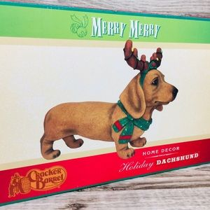Dachshund CRACKER BARREL Christmas Holiday Dog